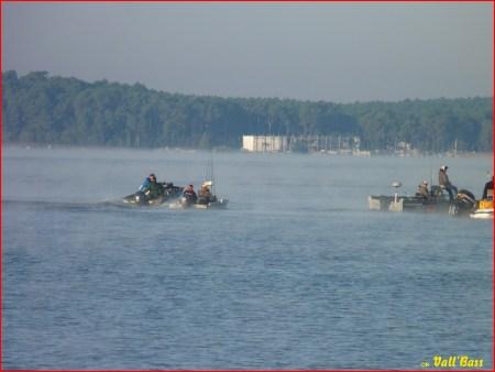 Le départ est donné pour 7h de pêche...