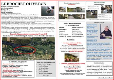 Bulletin d'information du Brochet Olivetain...